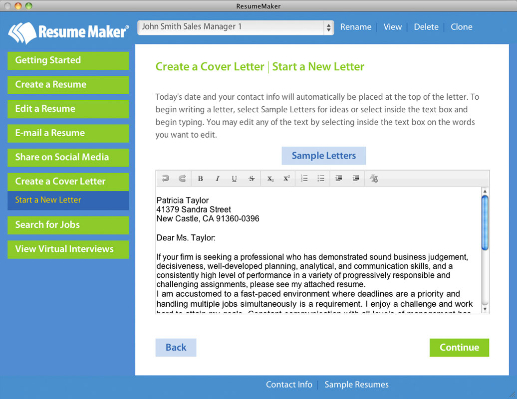 Resume Makers Home Resumemaker For Mac