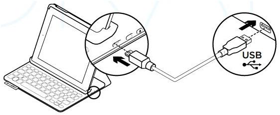 Charging the Logitech Keyboard Folio