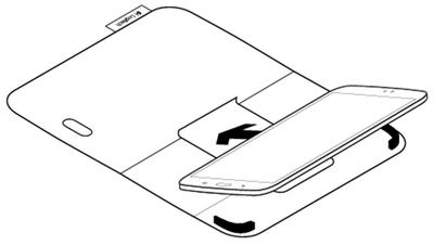 Insertion et retrait d'une tablette Samsung Galaxy Tab 3 7