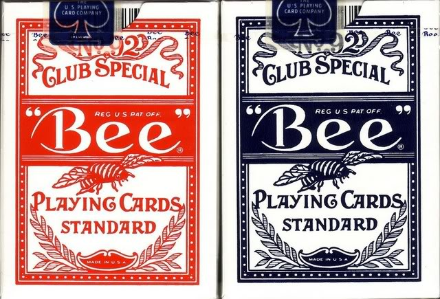 Blue Bee Icon Casino Cards