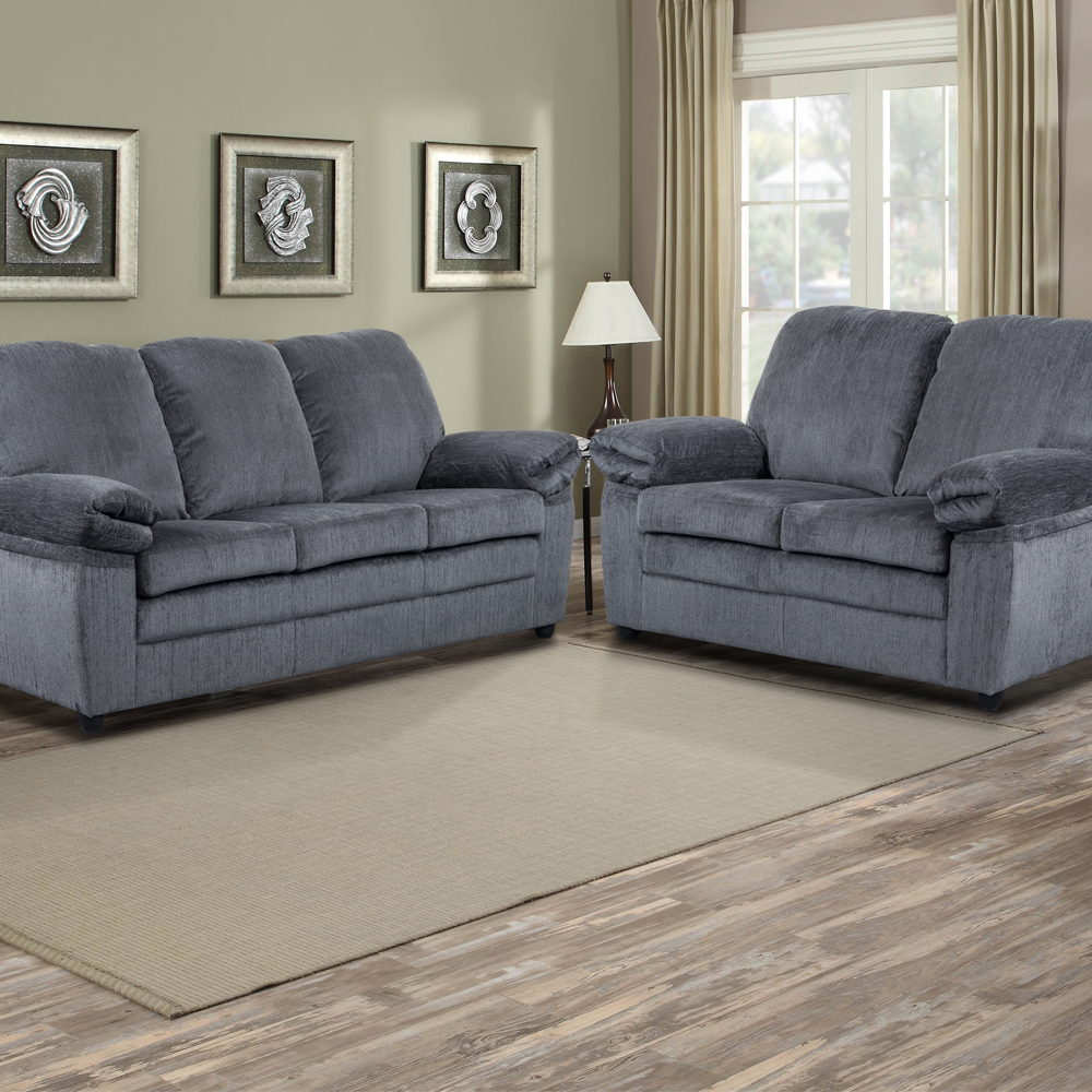 grey living room set la z boy chairs london s l chenille in includes sofa loveseat