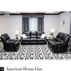 Living Room With Loveseat And Chairs Beach Feel Lorraine Bel Aire Reclining 3pc Set S L C In Ebony Deluxe Includes Sofa