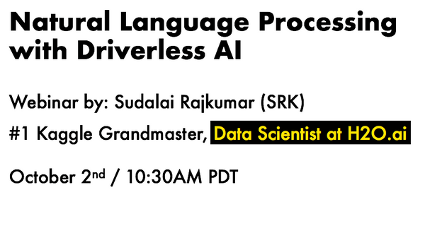 Webinar: Natural Language Processing with Driverless AI