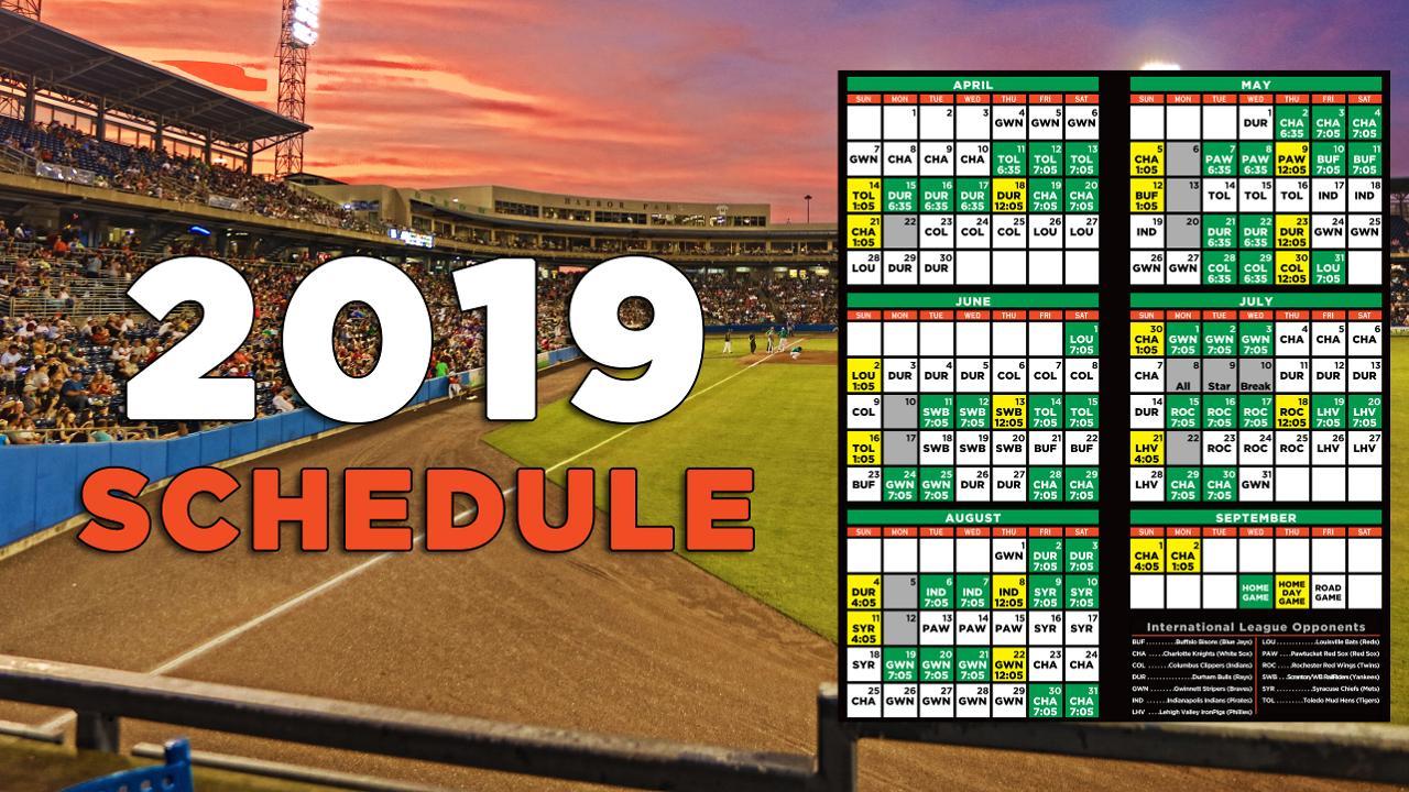 Tides announce 2019 schedule  Tides