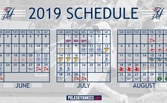Pulaski Yankees Release 2019 Schedule Yankees