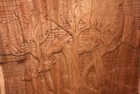 Wooden Giraffes Artwork from Tiffin's at Animal Kingdom at Walt Disney World Resort