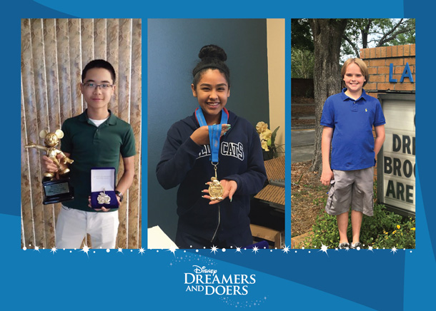 Hundreds of Inspirational Students Named 2017 Disney Dreamers and Doers