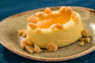 Passion Fruit Cheesecake with Toasted Macadamia Nuts