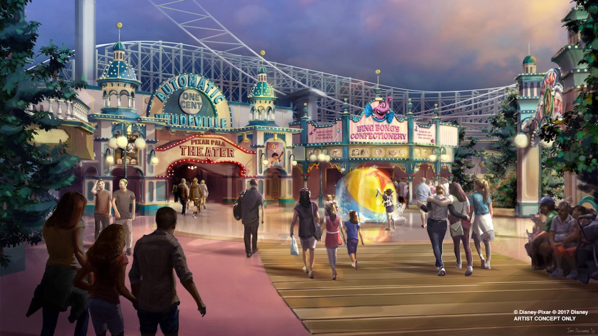 Content owned by Disney - New Pixar Pier (new name for Paradise Pier) at Disney's California Adventure Park