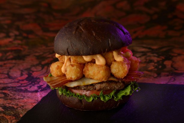 Muenster Smash Burger at Cosmic Ray's Starlight Café for Mickey's Not-So-Scary Halloween Party at Magic Kingdom Park