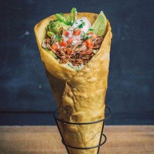 Taco Cone at 4R Cantina Barbacoa Food Truck at Disney Springs