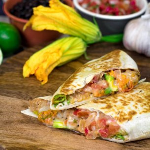 Squash Blossom Burrito at 4R Cantina Barbacoa Food Truck at Disney Springs