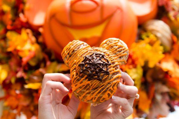 Mickey Cinnamon Roll at Main Street Bakery for Mickey's Not-So-Scary Halloween Party at Magic Kingdom Park