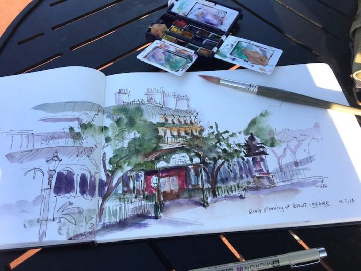 Watercolor Sketch by Disney Artist Will Gay