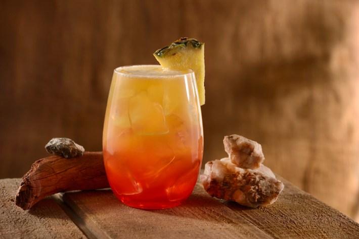 Tropical Cocktail at Banana Cabana Pool Bar at Disney's Caribbean Beach Resort