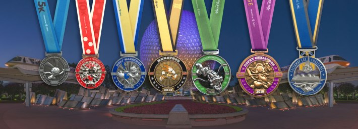 Finisher Medals for the 2019 Walt Disney World Marathon Weekend