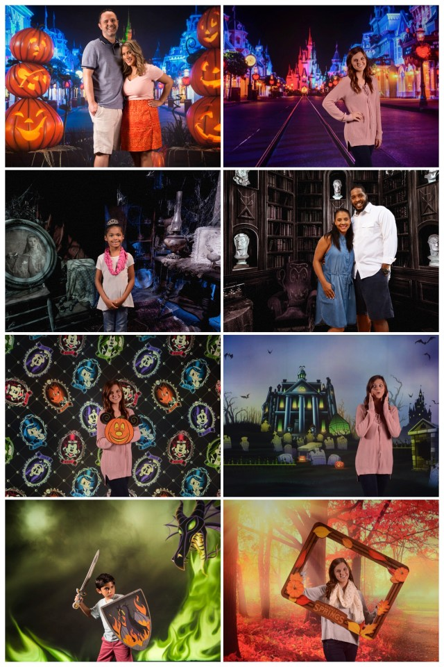 Fall Virtual Backdrops Available at the Disney PhotoPass Studio at Disney Springs