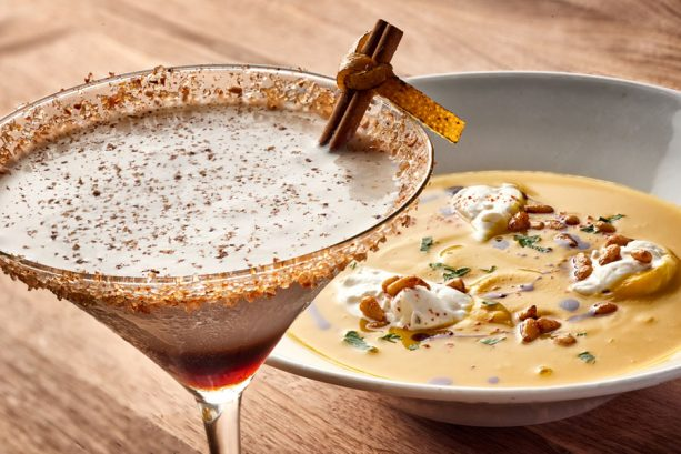 Fall Harvest Soup and Pumpkin White Russian at Enzo's Hideaway for WonderFall Flavors at Disney Springs