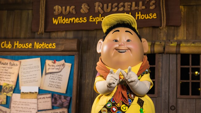Russell from Up at Discovery Island