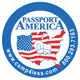 Passport America Discount Camping Club The only camping club we keep a membership in – for $39/year, you get 50% off at parks. Great for overnights dumping/refilling tanks in-between boondocking. Our # is R-0242893