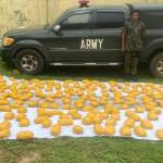 Fake Nigerian Army major arrested with 420 packs of weed (Indian hemp)