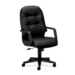 Hon Desk Chair Navy Furniture From National Business Pillow Soft Leather High Back Executive 50477