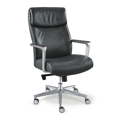 black leather desk chairs best potty training chair 2018 shop for a office and other seating at la z boy lombard executive 51794