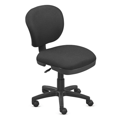 armless chair office swing over canyon desk chairs seating without arms nbf com everyday values compact task 56024