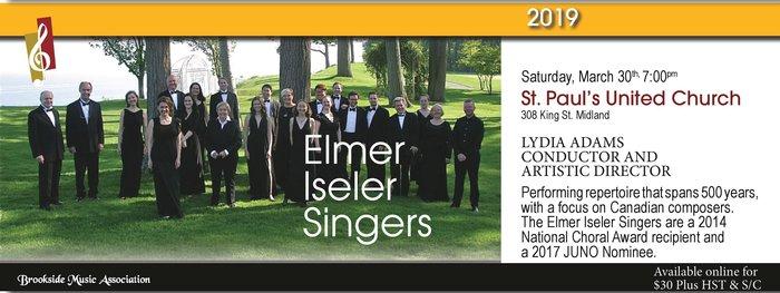 Brookside Music Association present the Elmer Iseler Singers on March 30, 2019