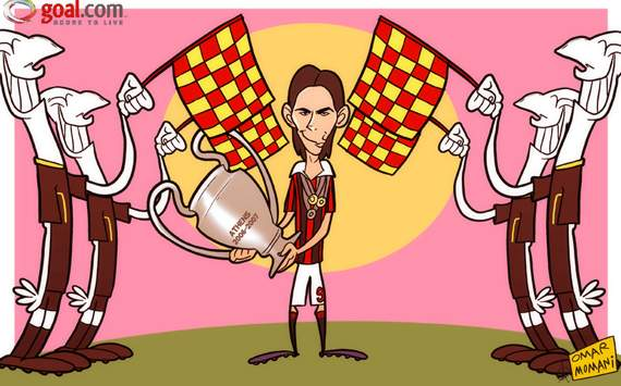 Cartoon of the Day: Inzaghi flagged offside for the last time as legend calls time on career   Goal.com