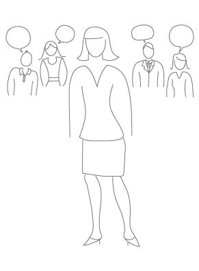 Ilustração de modelos de questionários de Recursos Humanos