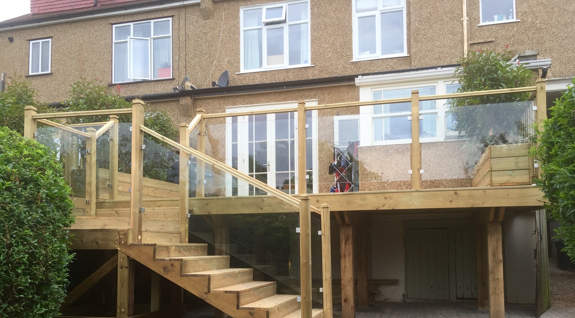 Raised Garden Deck