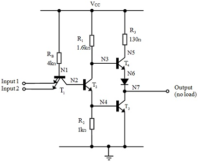 Concept of TTL NAND Gate and its Circuit Analysis