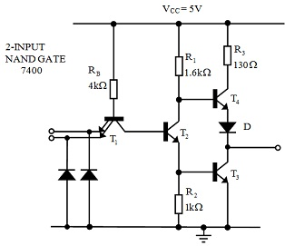 Theory of TTL Logic Gate Series