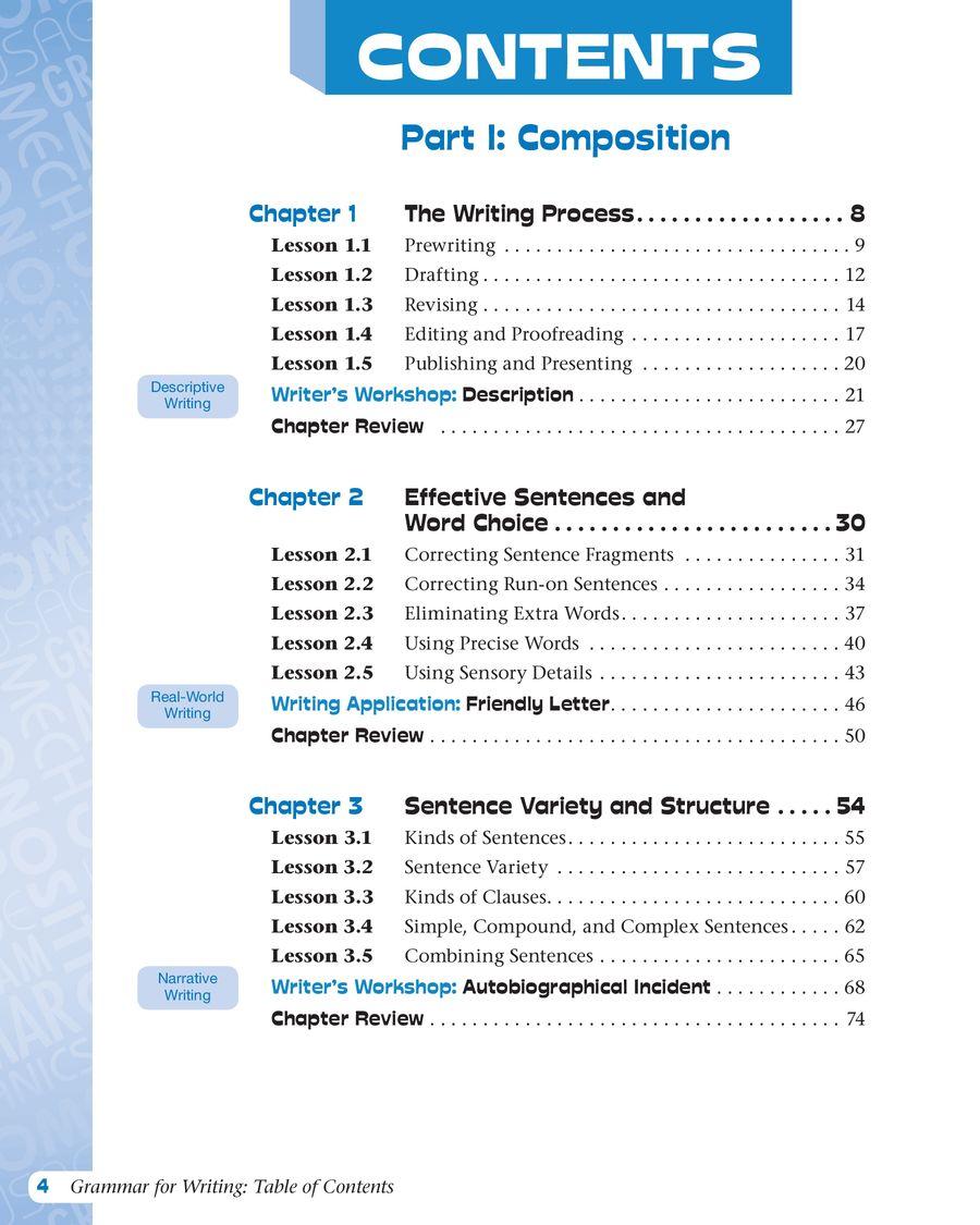 medium resolution of Grammar for Writing