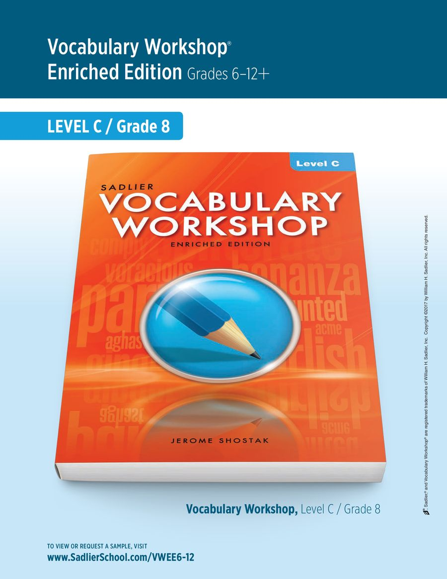 Vocabulary Workshop Enriched Edition [ 1165 x 900 Pixel ]