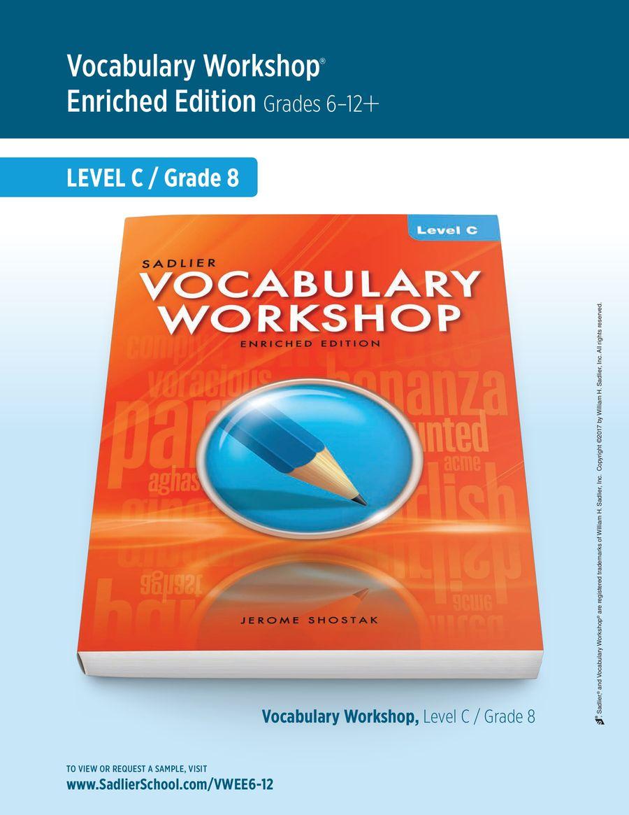 Vocabulary Workshop Enriched Edition [ 1165 x 900 Pixel ]