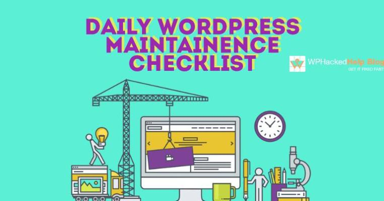 Daily WordPress Site Maintenance Checklist