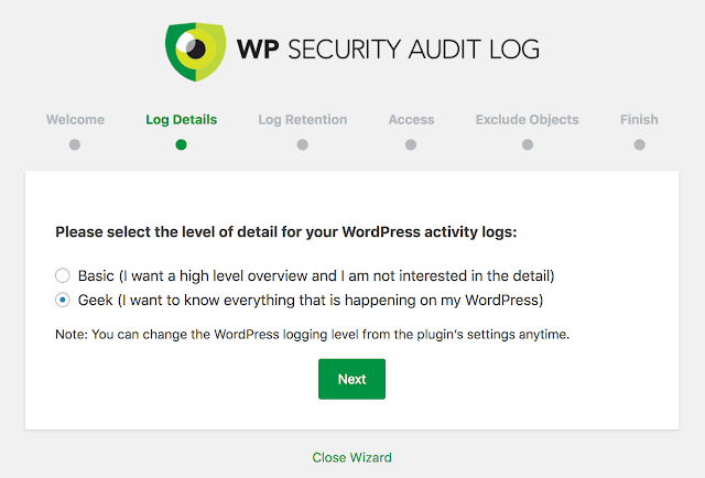 wp security log audit plugin to track user activity wordpress