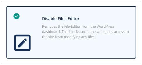 disable files editor wordpress