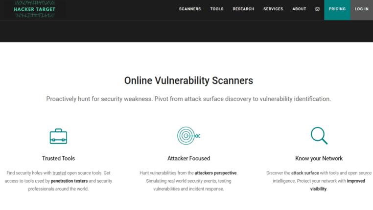 online vulnerability scanner
