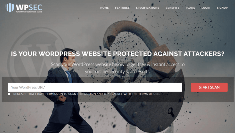 find vulnerability in wordpress themes plugins scan online