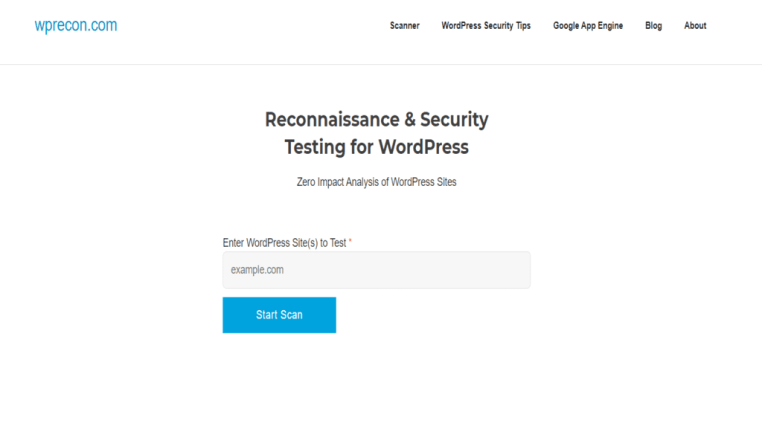 online security testing of wordpress site
