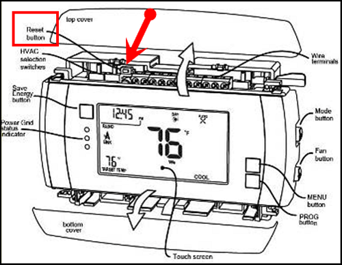 RTCOA CT30S Thermostat Troubleshooting