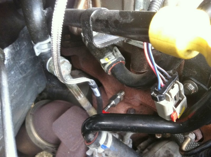 egt prob location help dodge diesel