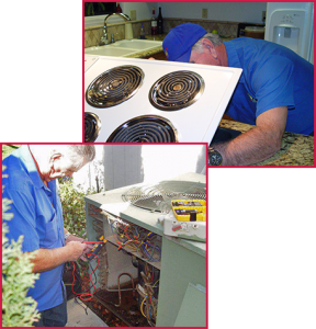 Electric range and HVAC service