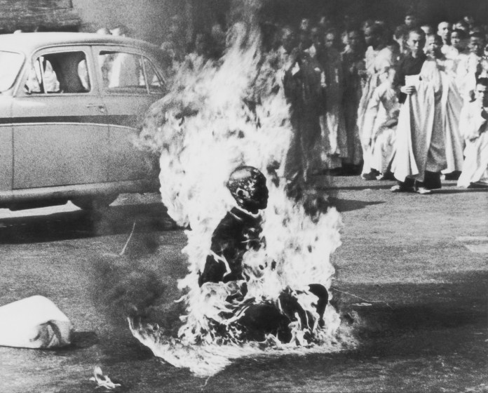 'The Burning Monk' by Malcolm Browne, which won the 1963 World Press Photo of the Year.