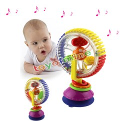 High Chair Suction Toy Office Furniture Table And Chairs Baby Child Kids Rainbow Ferris Wheel Rattle Clanking