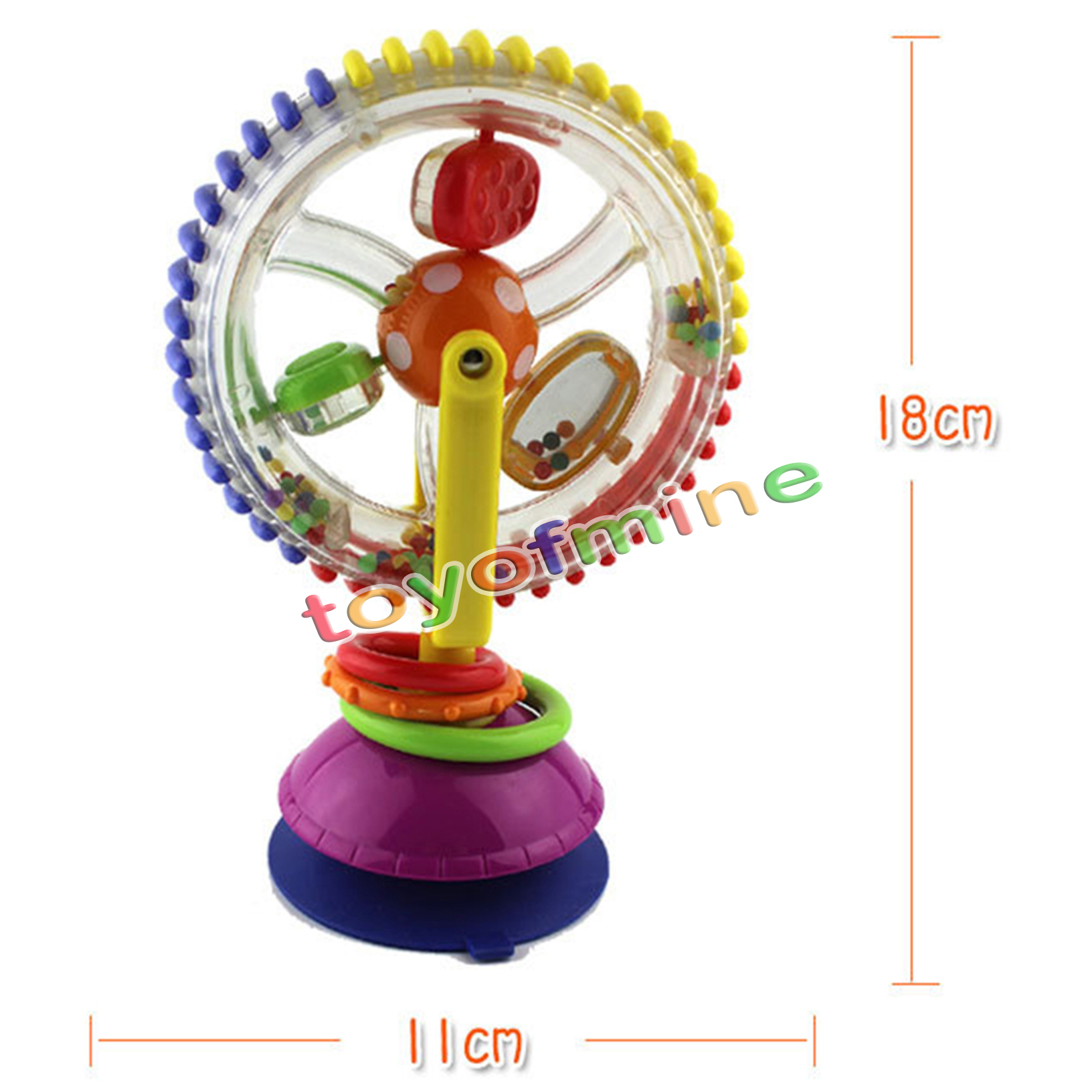 high chair suction toy cool outdoor chairs baby child kids rainbow ferris wheel rattle clanking