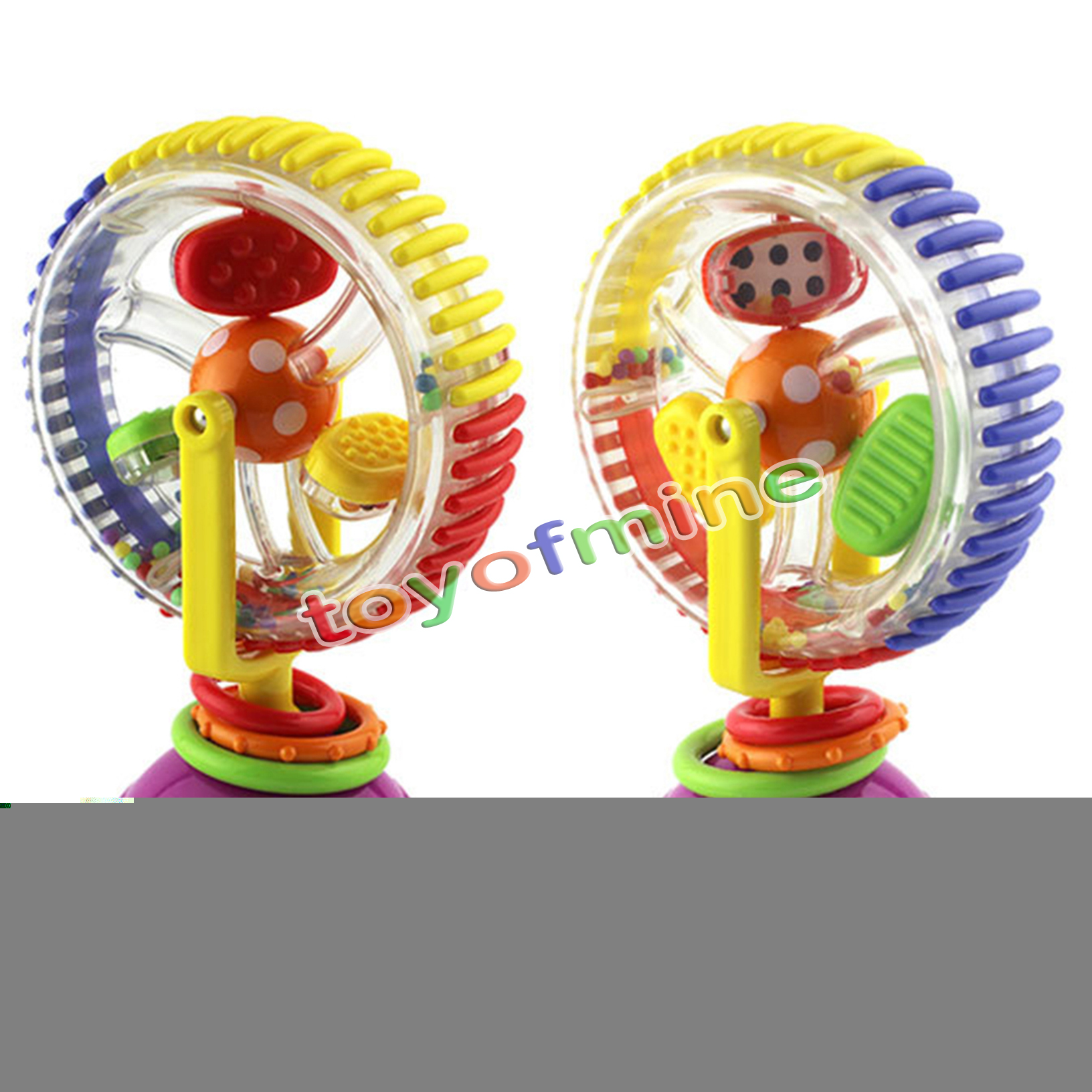 high chair suction toy folding baby child kids rainbow ferris wheel rattle clanking